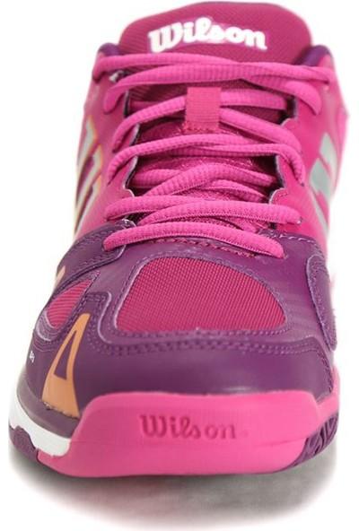 Wilson Çocuk Tenis Ayakkabısı Rush pro JR Fiesta Pembe / Koyu Erik / Clementine ( WRS320740E045 )