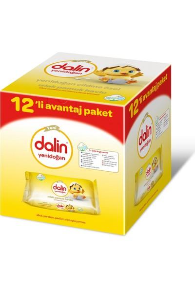 Dalin Organic Pamuk Yenidoğan Havlu Mendil 480 Yaprak 12'li Paket