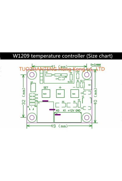 Weather Forecast 5 Adet Dijital Termostat 12v Akvaryum Kuluçka Buzdolabı thr205-5