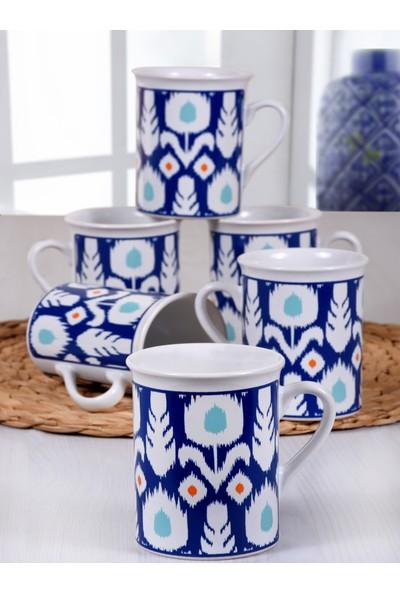 Keramika Etnik Silindir Kupa 9 Cm 6 Adet