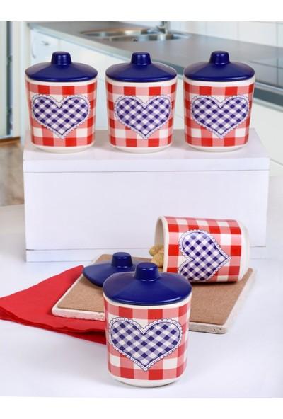 Keramika 5'li 10 Cm Pötikare Köşem Baharat Takımı
