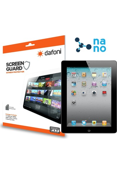 Dafoni iPad 2 / 3 / 4 Nano Glass Premium Tablet Cam Ekran Koruyucu