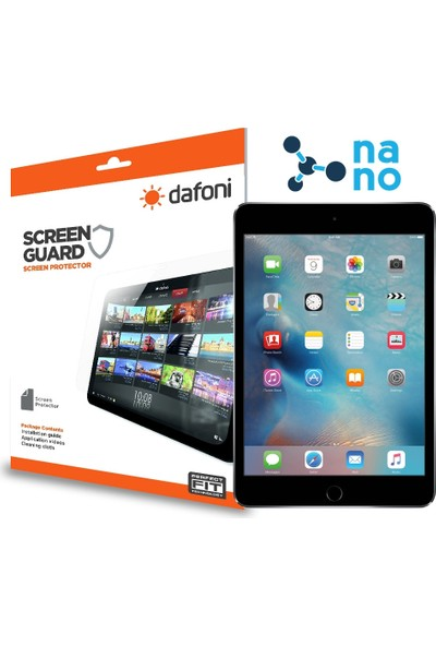 Dafoni iPad Mini 4 Nano Glass Premium Tablet Cam Ekran Koruyucu