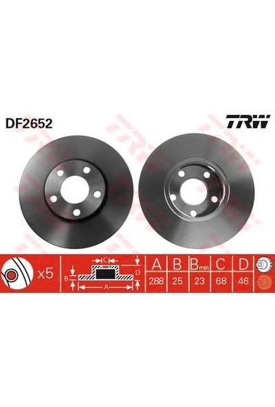 Trw Df2652 On Fren (Aynası) Dıskı A4 1,8 20V-1,9Tdı - A6 1,8-1,8T-1,9Tdı-2,4-2,5Tdı-2,6-2,8-2,8 30V 97--> Passat 96-->