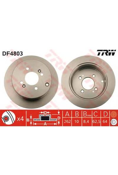 Trw Df4803 Arka Fren (Aynası) Dıskı Accent 1,4/1,6 11/05-> Getz 1,6/1,5Crdı 09/02-> İ20 1,2/1,4/1,6/1,6Crdı 09/08->