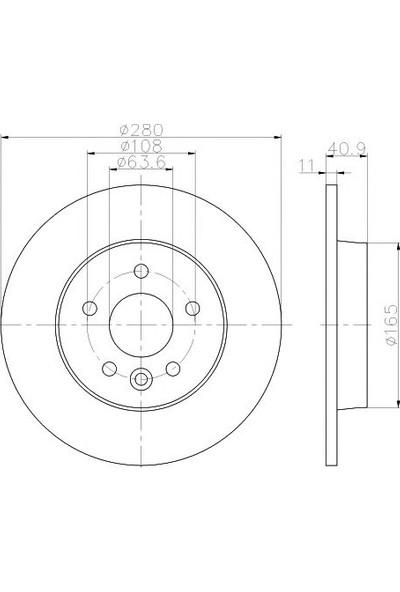 Trw Df6535 Fren Dıskı Arka (Volvo: V40 03/2012-)