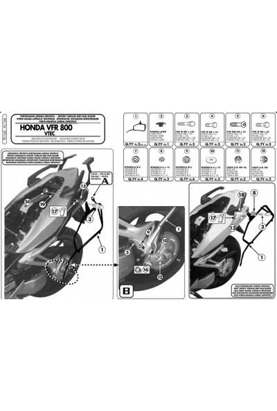 Gıvı Pl166 Honda Vfr 800 Vtec (02-11) Yan Çanta Taşıyıcı