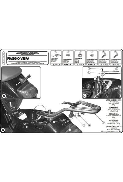 Gıvı Sr105 Pıaggıo Vespa Lx - S 50-125-150 (05-14) Arka Çanta Taşıyıcı