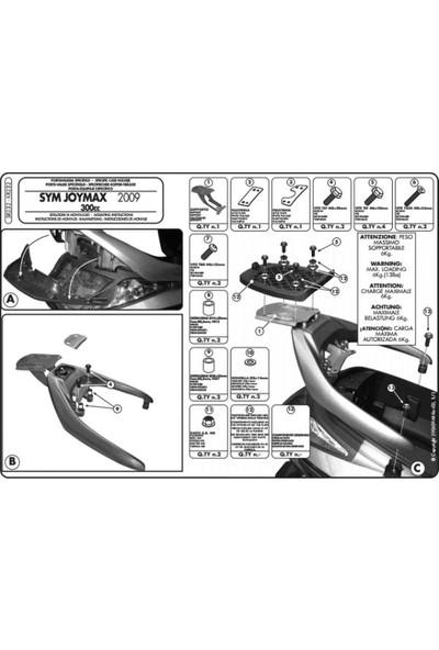 Gıvı Sr232 Sym Joymax 250 (05-08) - Joymax Evo (09-11) - Gts (11-12) Arka Çanta Taşıyıcı