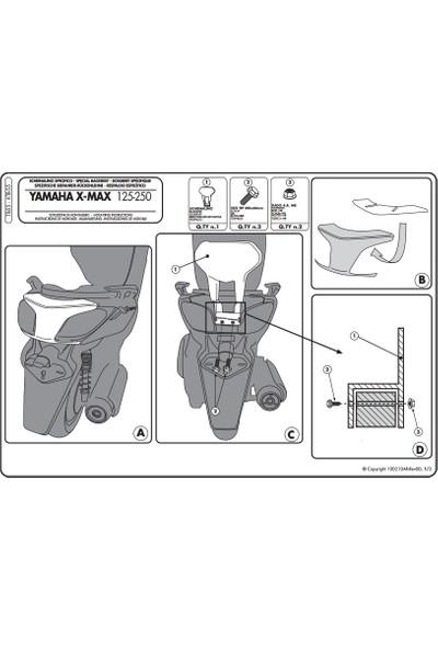 Gıvı Tb55 Yamaha X-Max 125-250 (10-13) Sıssybar
