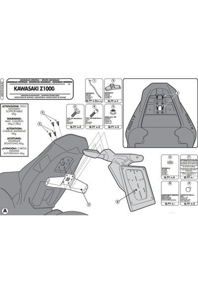 Gıvı 450fz Kawasakı Z 1000 (10-13) Arka Çanta Taşıyıcı