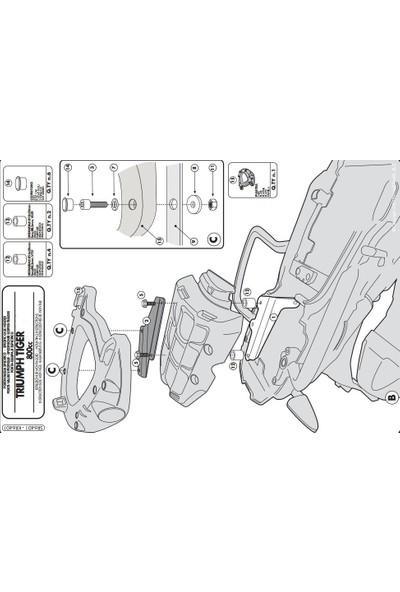 Gıvı Sr6401 Trıumph Tıger 800 - 800xc (11-16) Arka Çanta Taşıyıcı