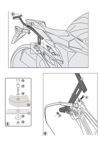 Gıvı 4109fz Kawasakı Z 800 (13-16) Arka Çanta Taşıyıcı