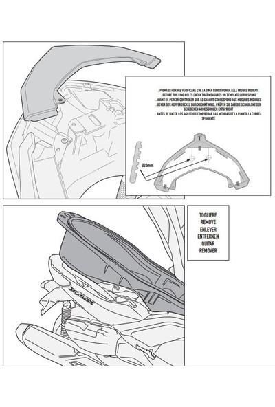 Gıvı Sr2111m Yamaha X-Max 400 (13-17) Arka Çanta Taşıyıcı