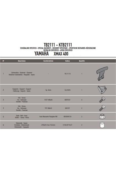 Gıvı Tb2111 Yamaha X-Max 125-250-400 (13-17) Sıssybar