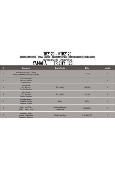 Gıvı Tb2120 Yamaha Trıcıty 125-155 (14-17) Sıssybar