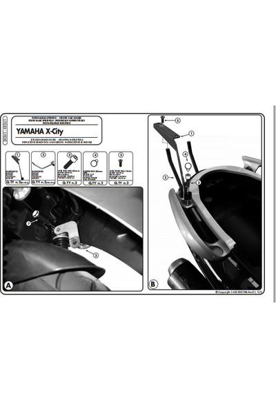 Kappa Kr361 Yamaha X-Cıty 125-250 (07-16) Arka Çanta Taşıyıcı