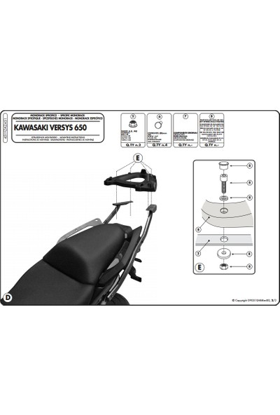 Kappa Kz451 Kawasakı Versys 650 (10-14) Arka Çanta Taşıyıcı