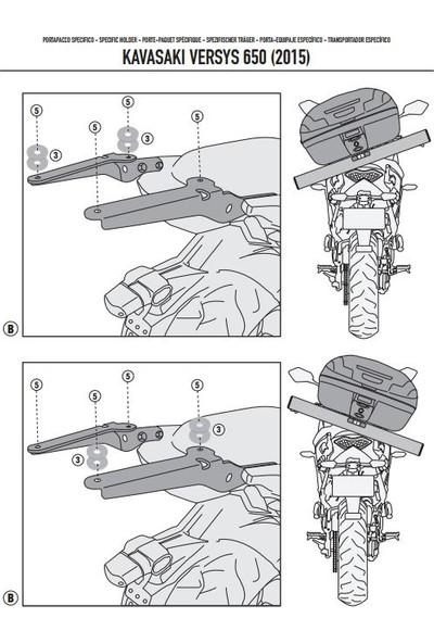 Kappa Kr4114 Kawasakı Versys 650 (15-17) Arka Çanta Taşıyıcı
