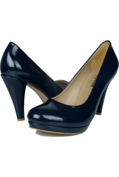 Loggalin 580401 031 420 Kadın Lacivert Rugan Platform Ayakkabı
