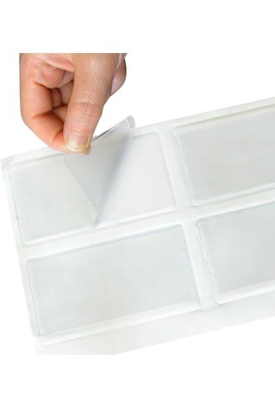 Aso Plastik Yapışkanlı Cep, Arkası Yapışkanlı, 5,5x10 cm, 100 Adet