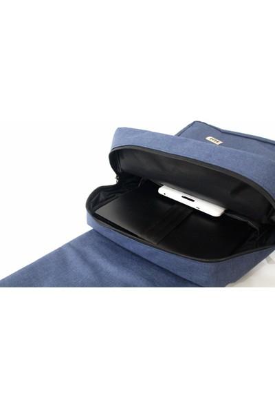 "M&W Work & Sport SRT-S3 15.6"" Lacivert -Kahverengi Notebook Sırt Çantası"