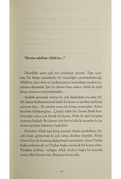 Allah Sizin Sahibinizdir - Uğur Koşar
