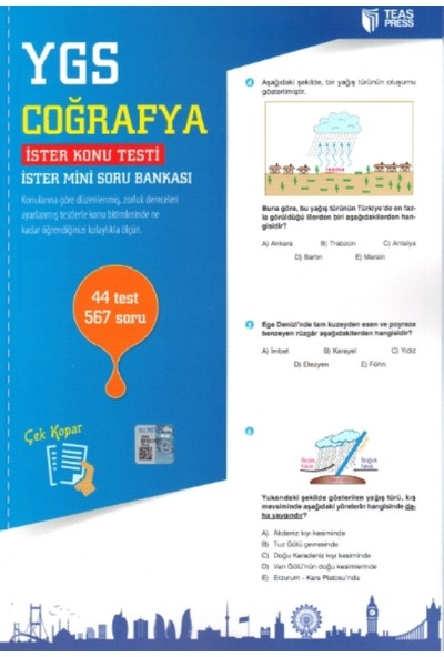 Teas Press-Sınav Yayınları Ygs Coğrafya Yaprak Test Çek Kopar
