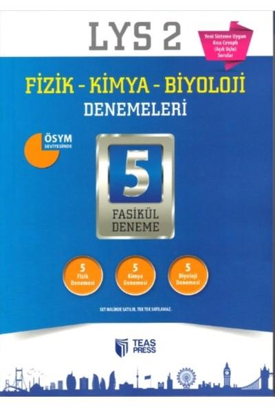 Teas Press-Sınav Yayınları Lys 2 Fizik - Kimya - Biyoloji Denemeleri 5 Fasikül Deneme