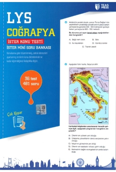 Teas Press-Sınav Yayınları Lys Coğrafya Yaprak Test Çek Kopar