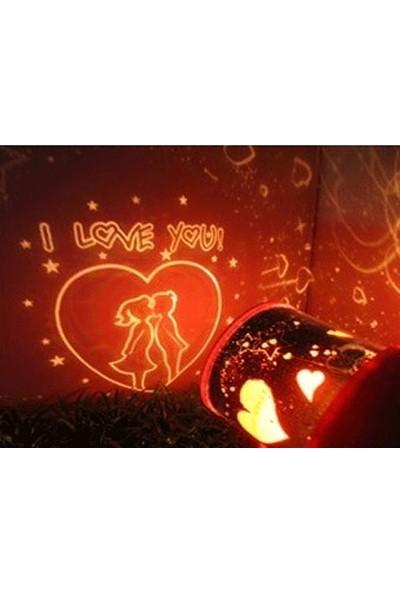Toptancı Kapında Star Love Projeksiyonlu Gece Lambası