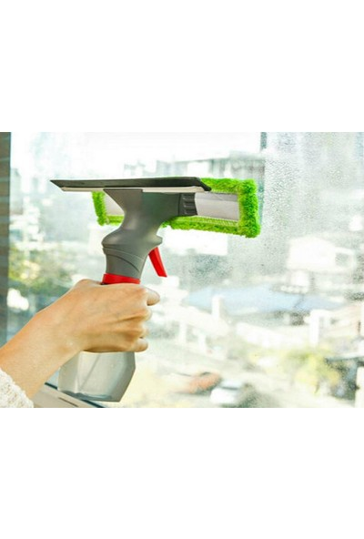 Toptancı Kapında Spreyli Su Hazneli Mikro fiber Cam Silme Mopu