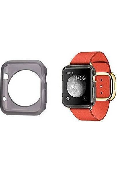 Alaca Apple Watch 38 Mm Kılıf Ultra İnce Silikon Tpu