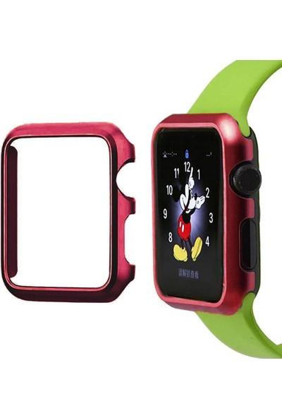 Alaca Apple Watch 2 38Mm Sert İnce Rubber Kılıf Watc 2 38Mm + Kırılmaz Cam