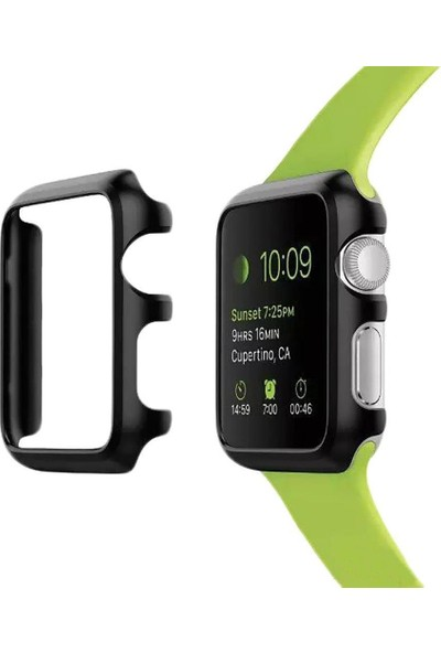 Alaca Apple Watch 2 42Mm Sert İnce Rubber Kılıf Watc 2 42Mm + Kırılmaz Cam