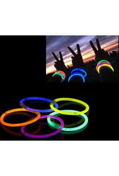 Toptancı Kapında 10 Adet Glow Stick Bracelet Fosforlu Kırılan Çubuk Bileklik