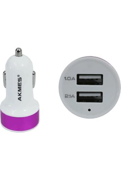 Toptancı Kapında Çift USB Girişli 2.1 AMP Araç Çakmak Soketi