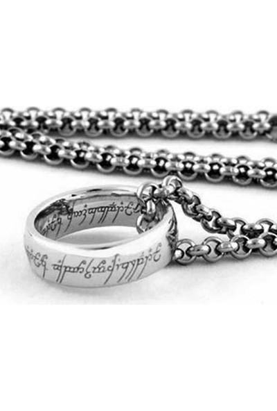 A-Leaf Lord Of The Rings 8Mm Tungsten Yüzüklerin Efendisi Yüzük Güç Yüzüğü Gümüş