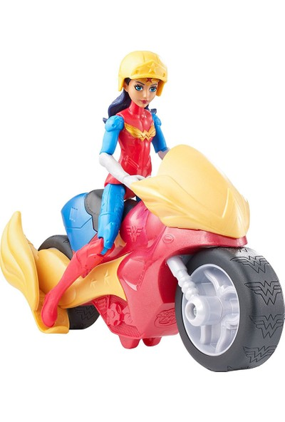 Mattel DC Super Hero Girls Wonder Woman Figür ve Araç Oyun Seti
