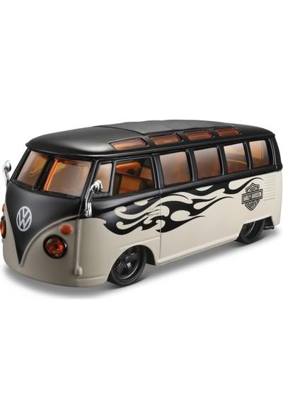 """Maisto 1:25 H - D Volkswagen Van """"Samba"""" Model Araba"""