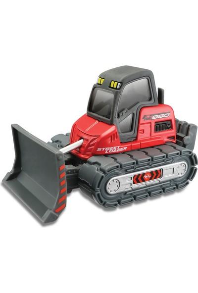 Maisto İnşaat Araçları Kırmızı İş Makinası Metal Gövdeli 11 cm