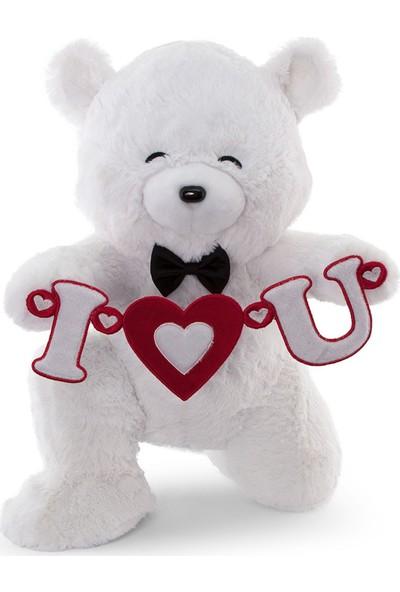 Neco Plush Sevgiliye Hediye Fluffy I Love You Serenat Ayı 45 cm