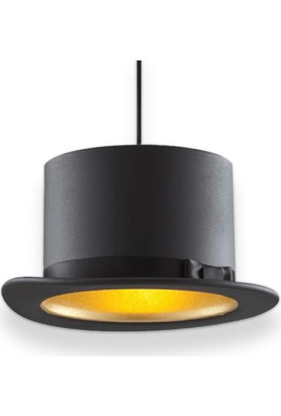 Klite Cap Serisi Maxi Düz Avize - Siyah