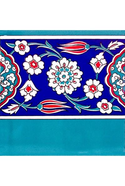 Kütahya Armada Çini 20X20 Cm Ks 24 Cami Çinisi Osmanlı Desenli Seramik Çini Bordür