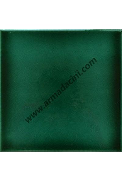 Armada Çini Pd 105 10X10 Krakle Yeşil İznik Porselen Çini Karo