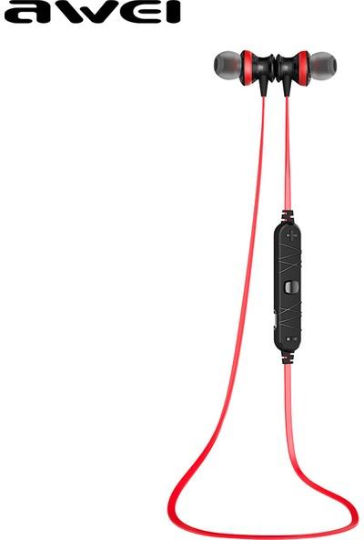 Awei Stereo Bluetooth Kulaklık (Ter ve Suya Karşı Dayanıklı) A980BL - Kırmızı