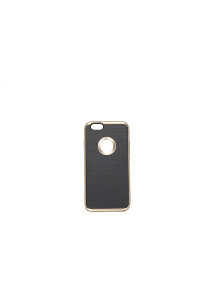 My Monkey IPH6-08GLD / iPhone 6 Heavy Duty Brushed Metal Tex.Phone Case / Gold Color