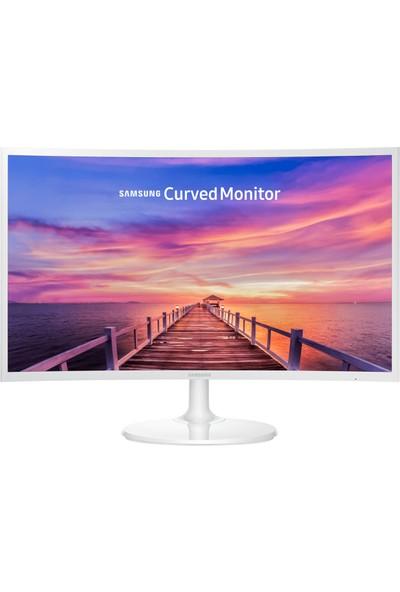 """Samsung LC27F391FHMXUF 27"""" 60-72Hz (HDMI+Display+Hoparlör) FHD FreeSync Beyaz Kavisli VA Monitör"""
