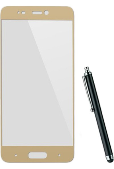 CoverZone Xiaomi Mi 5S Full Kaplayan 3d Tempered Koruyucu + Dokunmatik Kalem