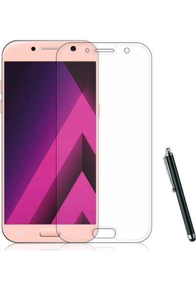 CoverZone Samsung Galaxy A3 2017 Full Kaplayan 3d Tempered Koruyucu + Dokunmatik Kalem